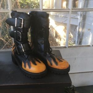Hot Topic Flame Boot